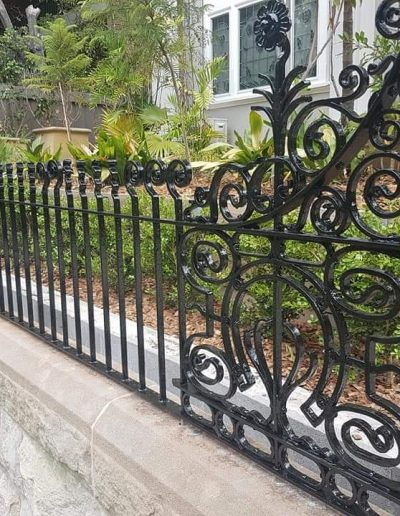 architectural metal fence